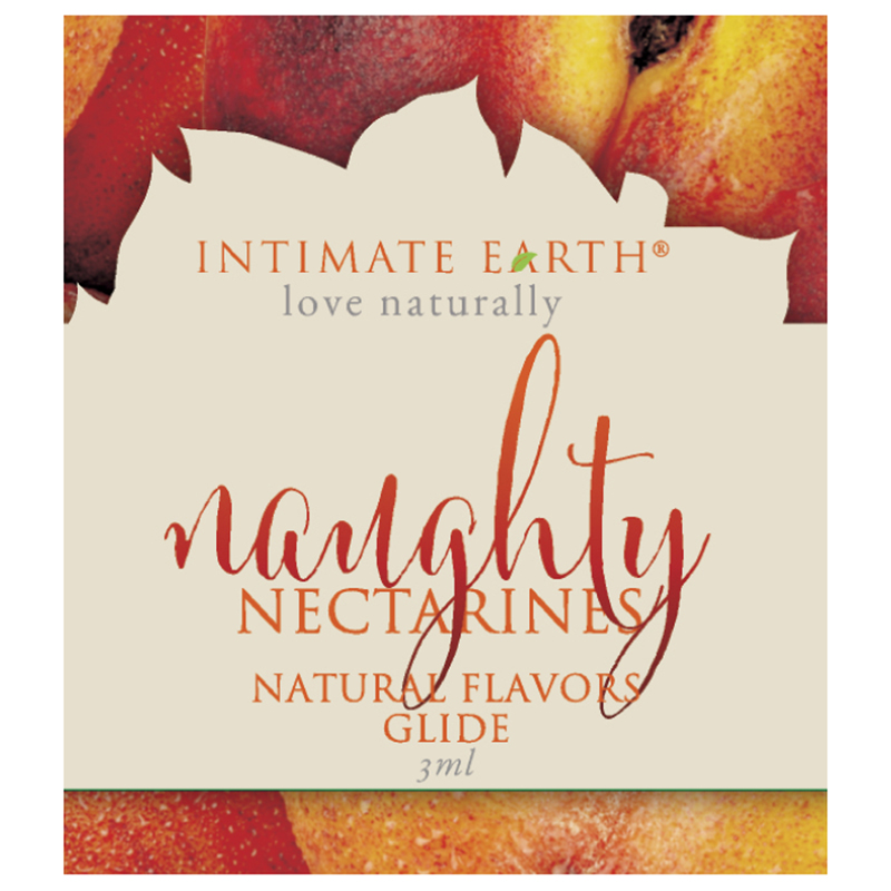 INT039F Intimate Earth3 ml Flavored Lubricant Pouch Naughty Nectarines
