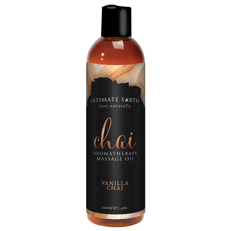 INT044-120IE Intimate Earth 120 ml Massage Oil Chai