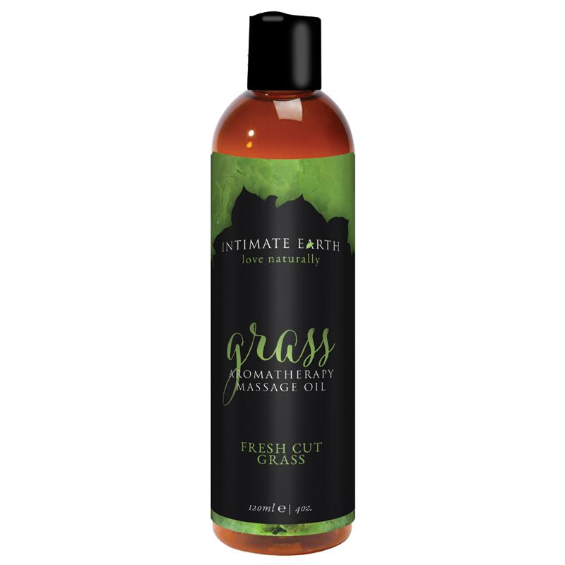 INT048-120IE Intimate Earth 120 ml Massage Oil Fresh Grass