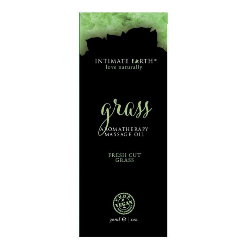 INT048F Intimate EarthGrass Massage Oil 30 ml Foil Sample