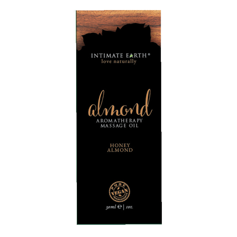 INT050F Intimate EarthAlmond Massage Oil 30 ml Foil Sample