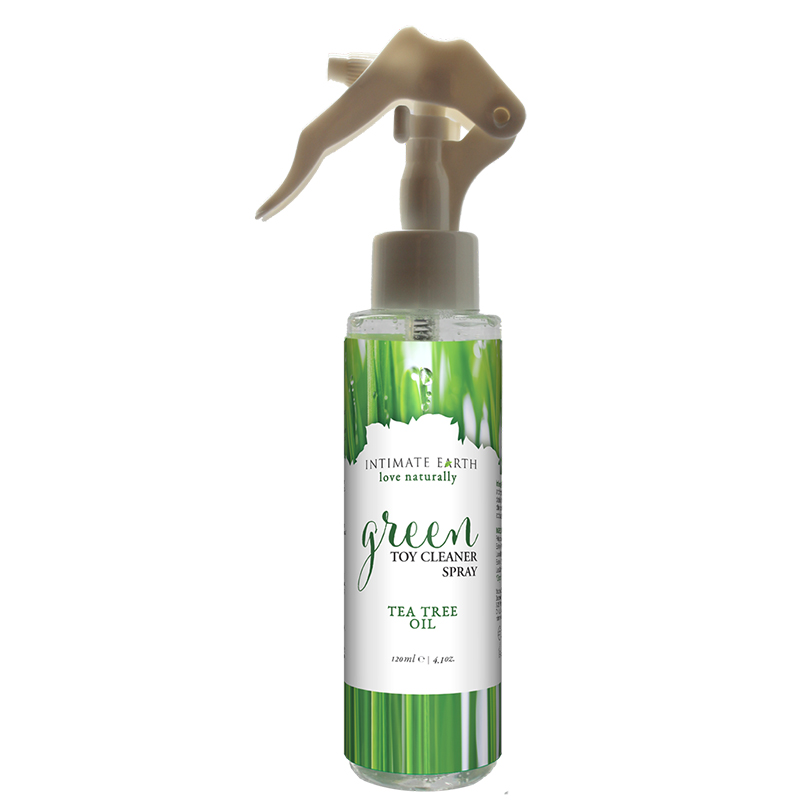 INT053-125IE Intimate Earth 125 ml Green Tea Tree Toy Cleaner Spray