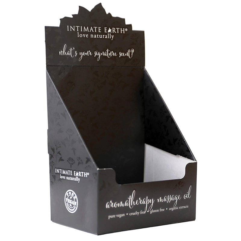 INTMASSDIS Intimate EarthEmpty Display Box Holds 24 30 ml Foil Samplers
