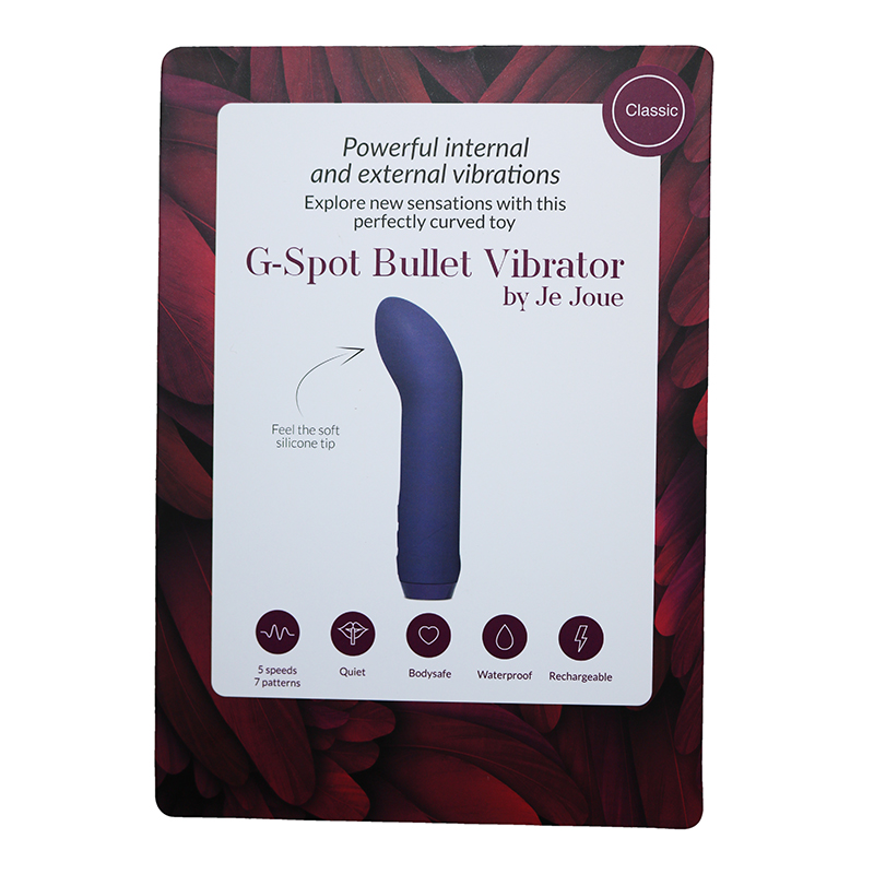 NEW JE2110 Je Joue G-Spot Bullet Vibrator Display CardONE PER STORE ONLY FREE WITH 3 UNITS BOUGHT