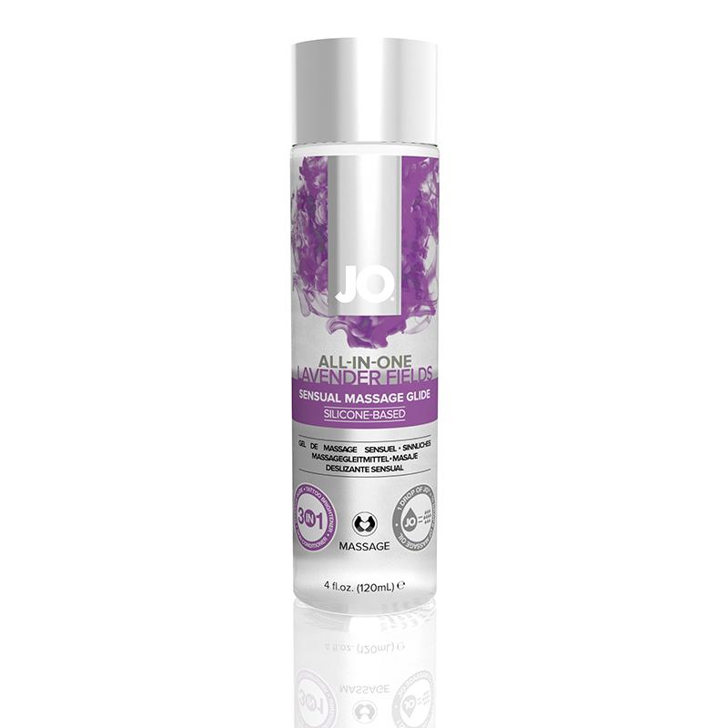 JL40024 System JO  JO All-In-One Massage Glide 4 oz  Lavender