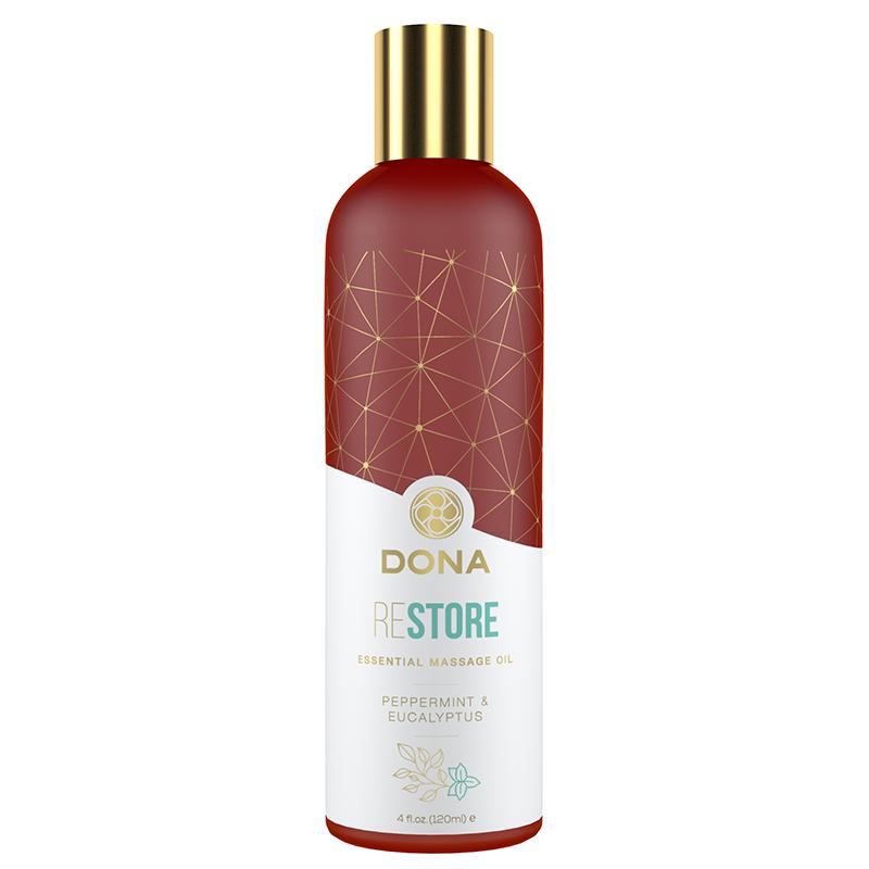 JL40454 System JO DONA Essential Massage Oil Restore Peppermint/Eucalyptus
