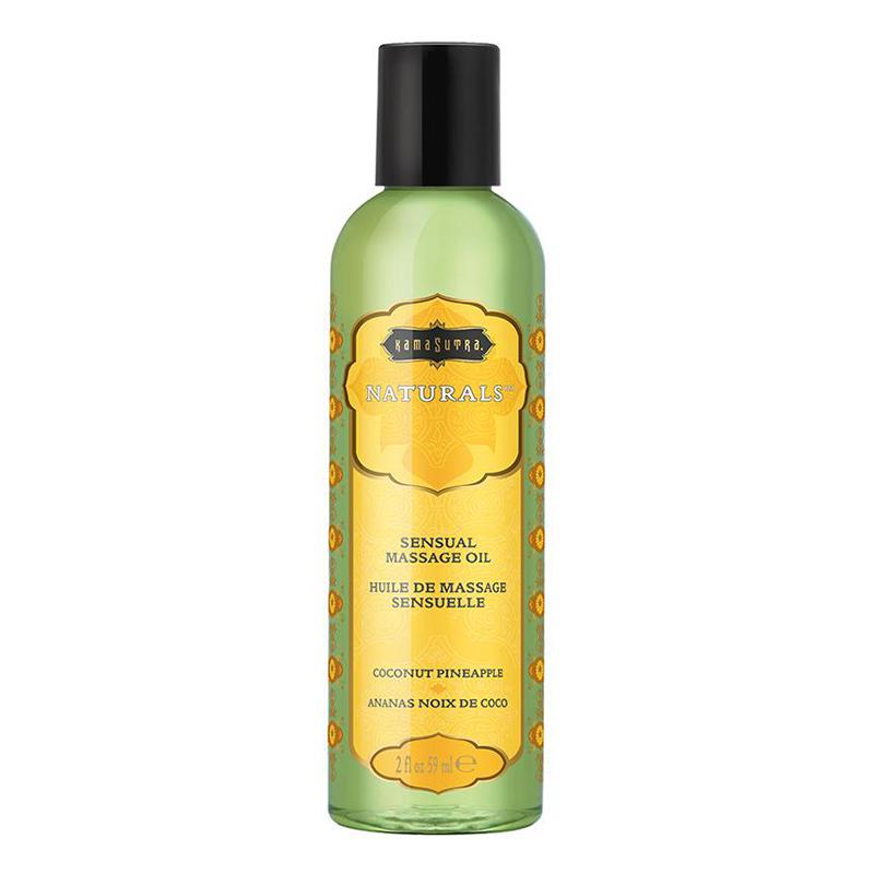 KAM10280 Kama Sutra Naturals Massage Oil 2 oz Coconut Pineapple