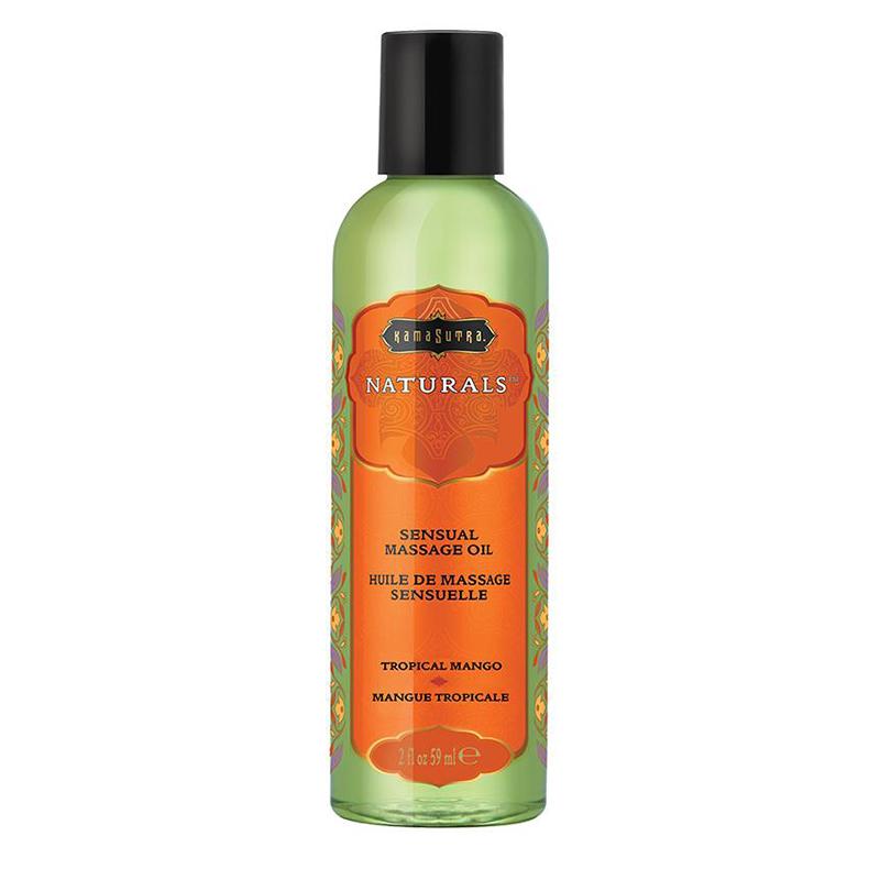 KAM10283 Kama Sutra Naturals Massage Oil 2 oz Tropical Mango