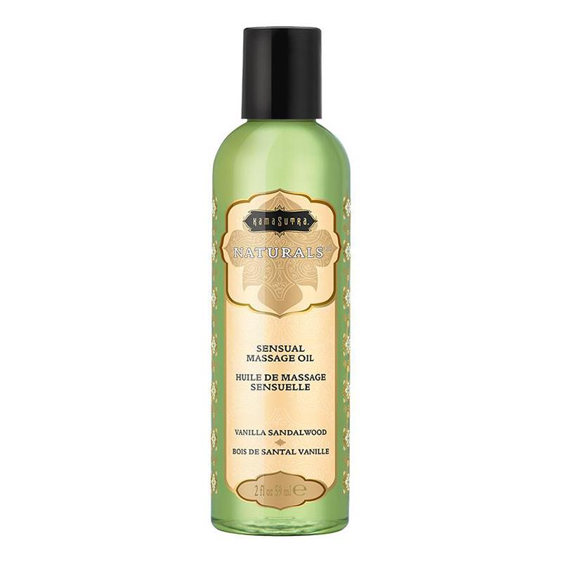 KAM10284 Kama Sutra Naturals Massage Oil 2 oz Vanilla Sandalwood