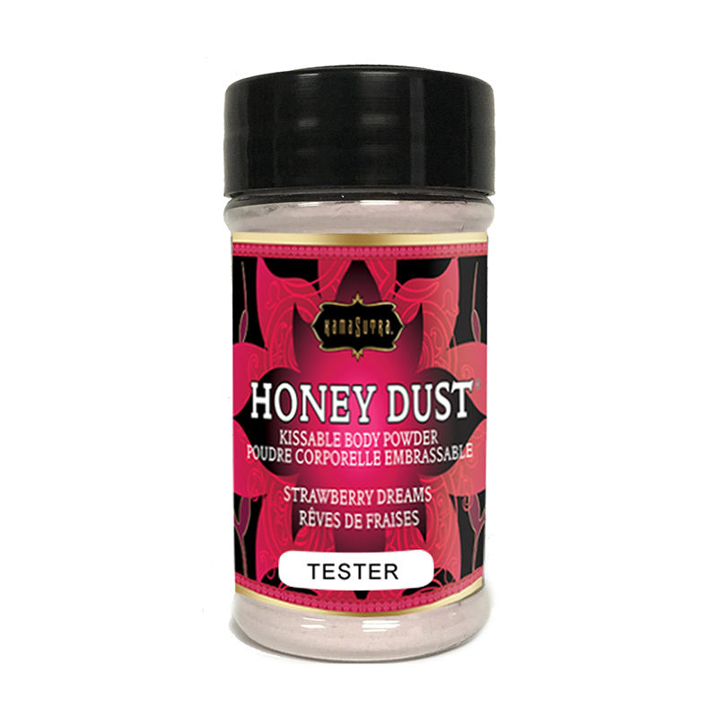 KAM12014T Kama Sutra Honey Dust Tester Shaker Strawberry DreamsONE PER STORE ONLY FREE WITH 2 UNITS BOUGHT PER FLAVOR
