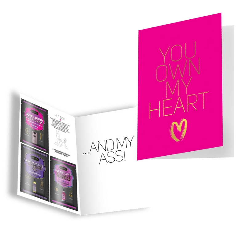KAM14002 Kama Sutra Naughty Notes Greeting Card You Own My Heart