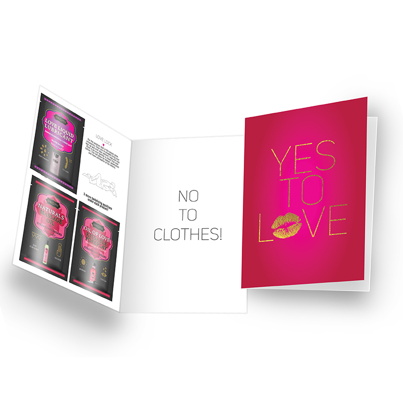 KAM14010 Kama Sutra Naughty Notes Greeting Card Yes to Love