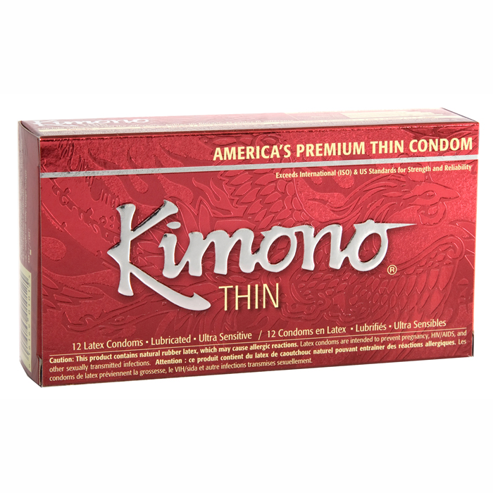 M01012 Kimono Thin Condom12 Pack