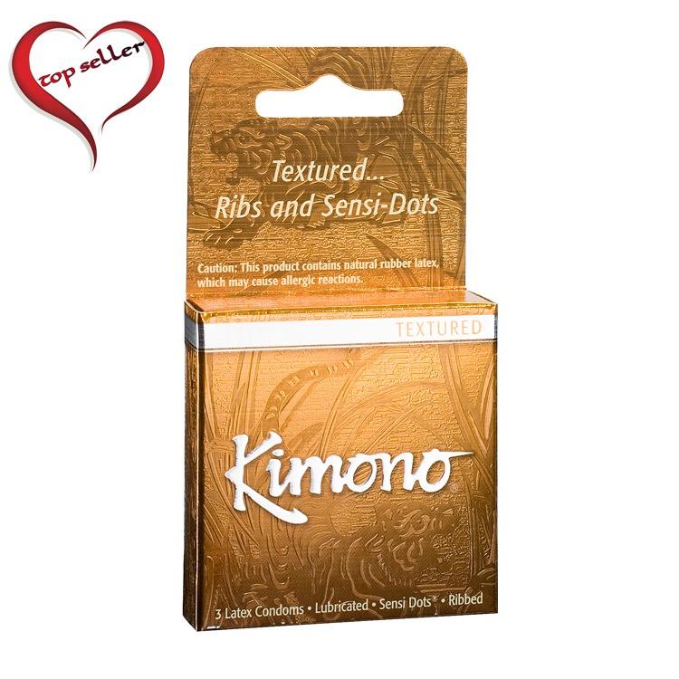 M07003 Kimono Textured Condom3 Pack