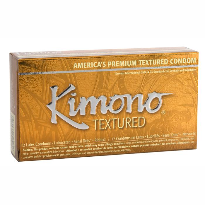 M07012 Kimono Textured Condom12 Pack