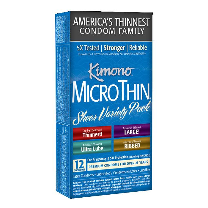 M09012 Kimono MicroThin Variety Pack 12 Pack