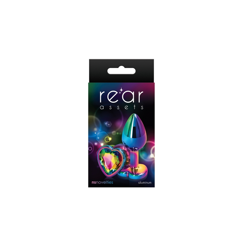 NSN0962-19 NS Novelties Rear Assets Multicolor Heart Small Rainbow