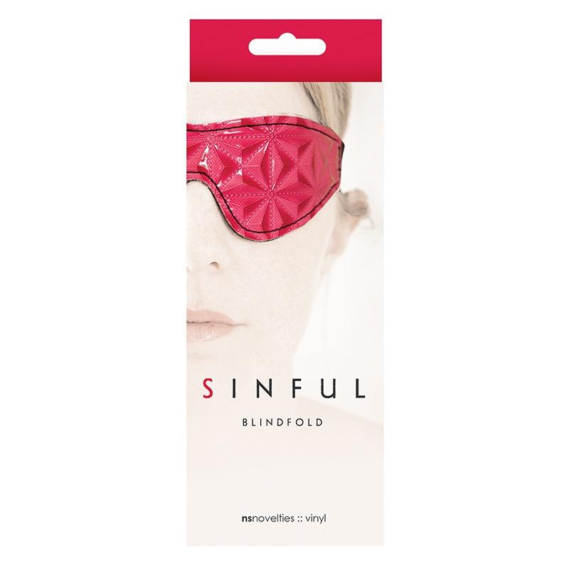 NSN1220-14 NS Novelties Sinful Blindfold Pink