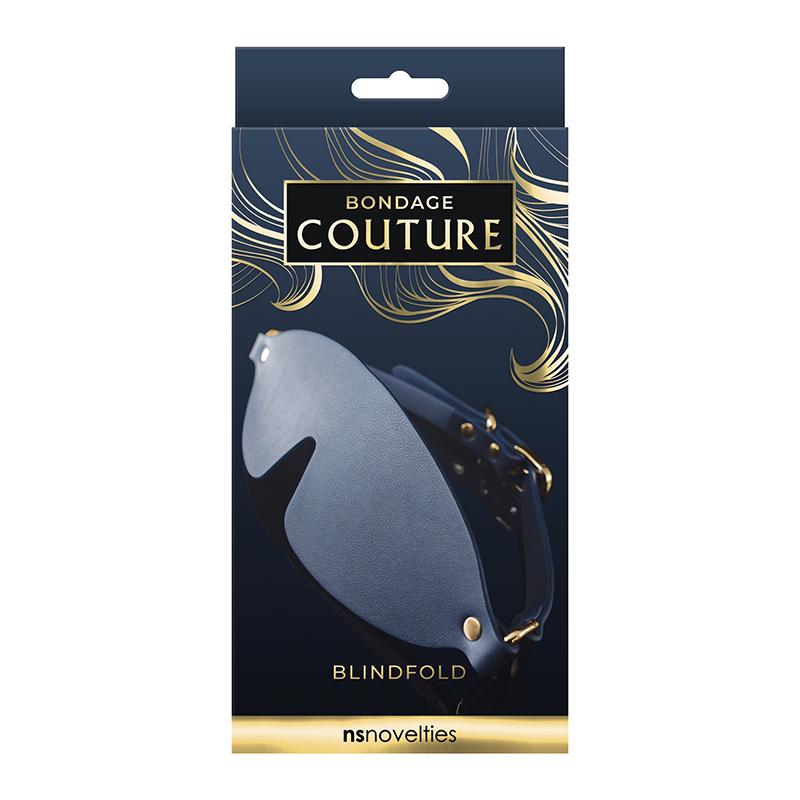NSN1306-17 NS Novelties Bondage Couture Blind Fold Blue