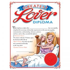OZ-DIP01E Ozze Creations  Greatest Lover Diploma For Her SALE PRICEDWHILE STOCK LASTS