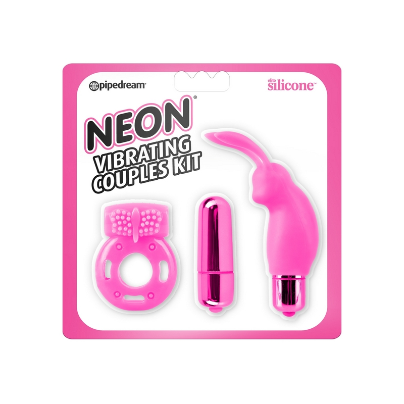 PD1441-11 Pipedream ProductsNeon Vibrating Couples Kit Pink