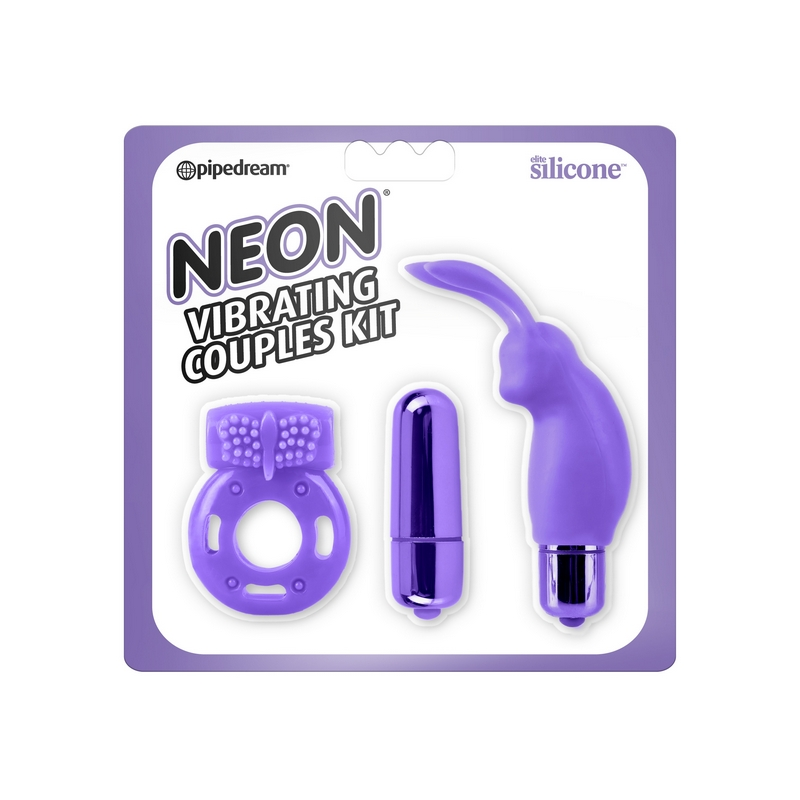 PD1441-12 Pipedream ProductsNeon Vibrating Couples Kit Purple