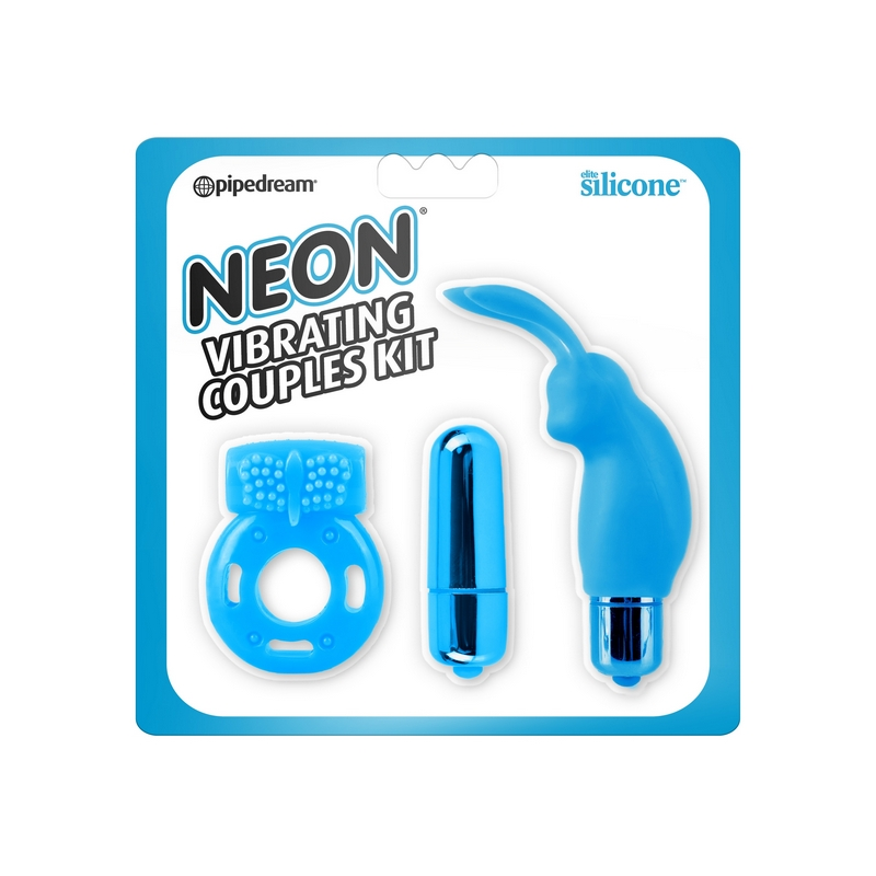 PD1441-14 Pipedream ProductsNeon Vibrating Couples Kit Blue