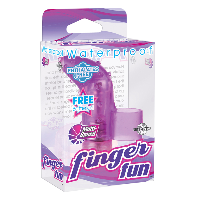 PD2554-12 Pipedream Products Waterproof Finger Fun Purple