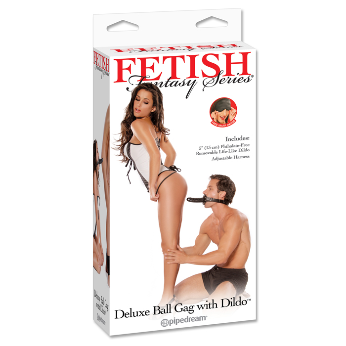 PD3853-00  Pipedream Products Fetish Fantasy Deluxe Ball Gag with Dong