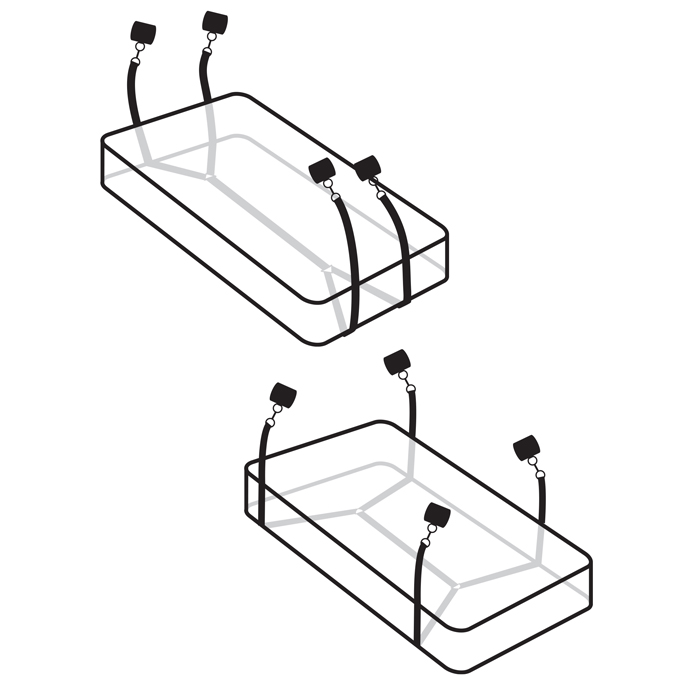 PD4454-23 Pipedream Products Fetish Fantasy Limited Edition Wraparound Mattress Restraints