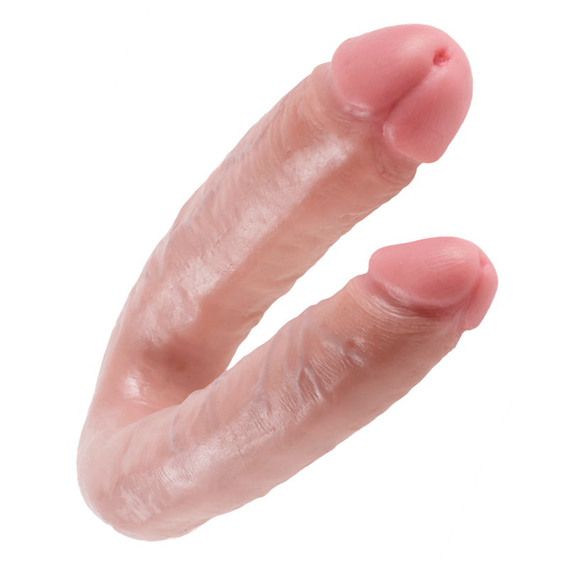 PD5515-21 Pipedream Products King Cock U-Shaped Large Double Trouble Beige