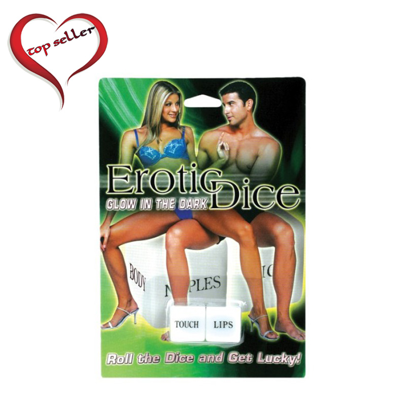 PD8000-00  Pipedream Products Foreplay Glow Dice Game