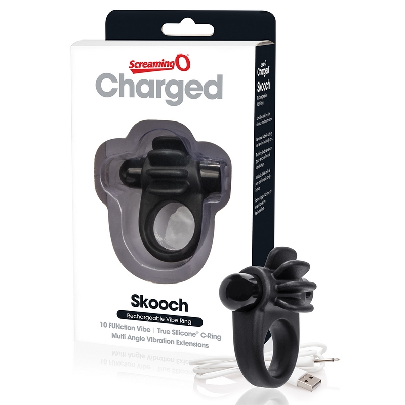 SCASK-BL-110 Screaming O Charged Skooch Ring Black
