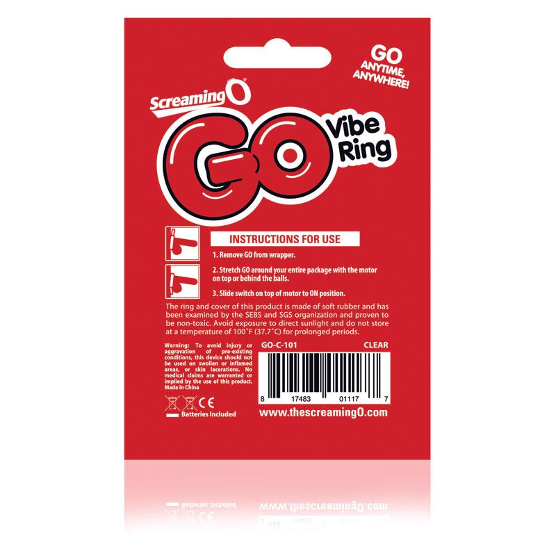 SCGOBU-110 Screaming O GO Vibe Ring Blue