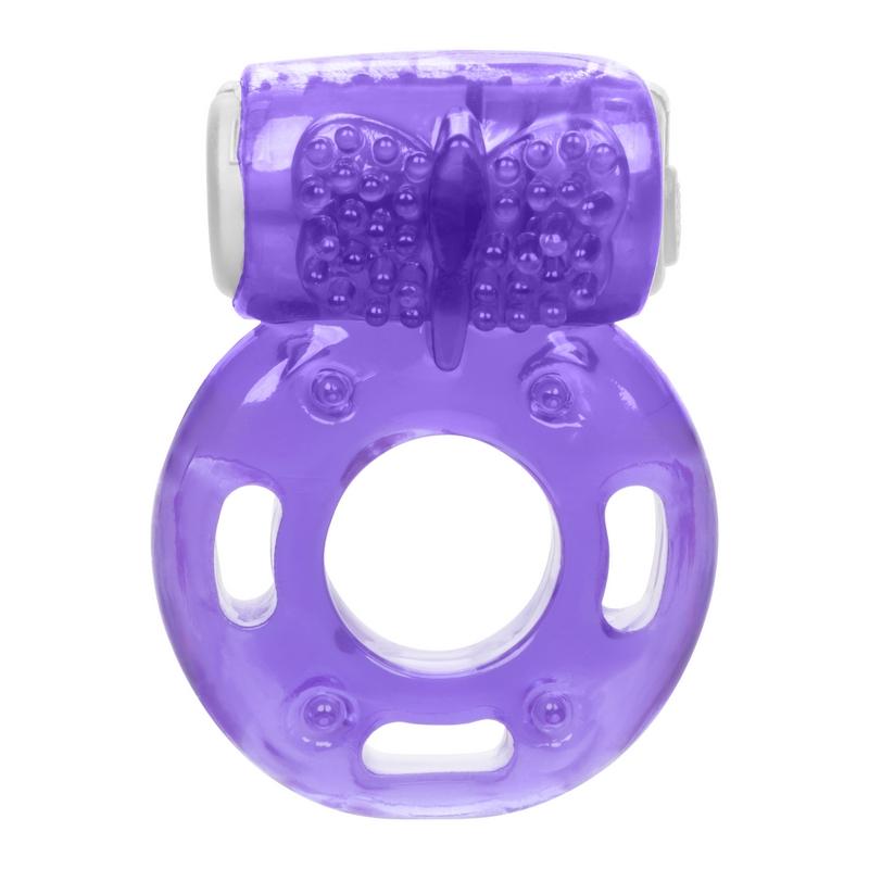 NEW SE8000-40-1 California Exotics  Vibrating Ring Foil Pack Purple