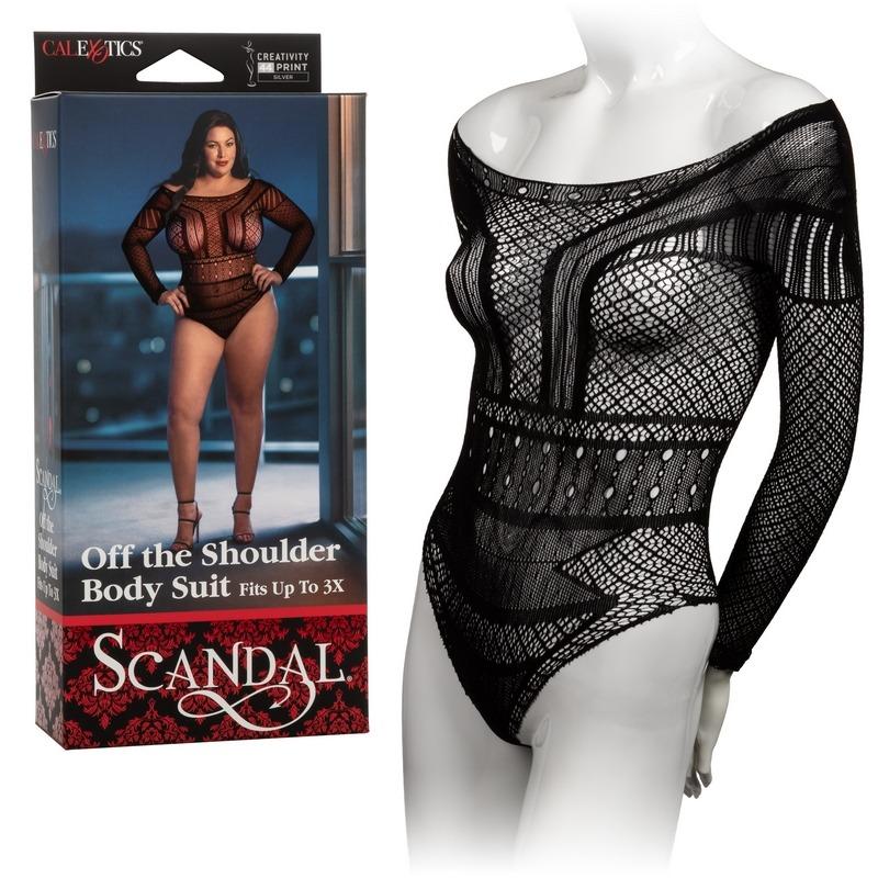 NEW SE2711-83-3 California Exotics  Scandal Off the Shoulder Body Suit Plus Size