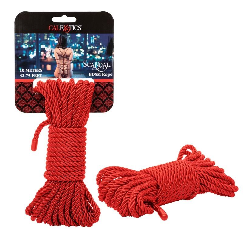 SE2711-96-2 California Exotics  Scandal BDSM Rope 10m Red