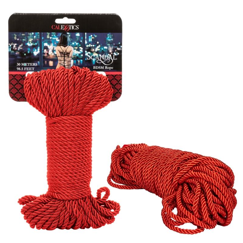 SE2711-97-2 California Exotics  Scandal BDSM Rope 30m Red