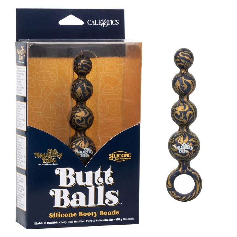 SE4410-45-3 California Exotics  Naughty Bits Butt Balls Silicone Booty Beads
