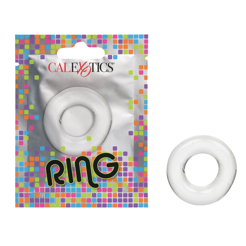 NEW SE8000-05-1 California Exotics  Ring Foil Pack Clear