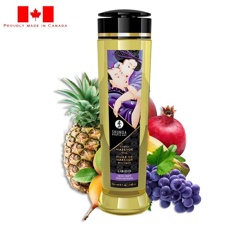 SH1202 Shunga 8 oz. Erotic Massage Oil Libido Exotic Fruit