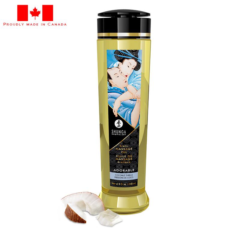 SH1210 Shunga 8 oz. Erotic Massage Oil Coconut