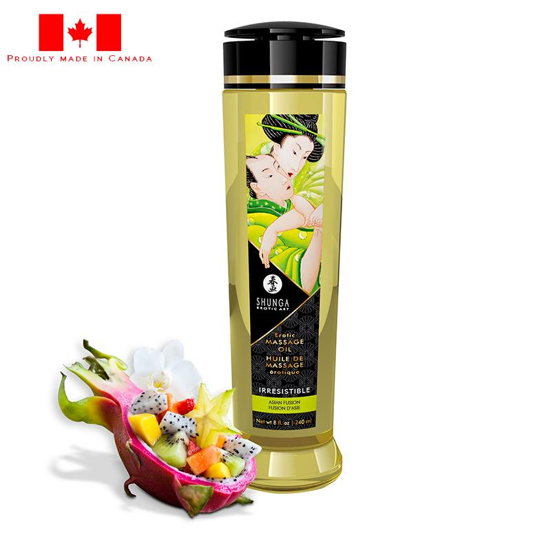 SH1218 Shunga 8 oz. Erotic Massage Oil Asian Fusion