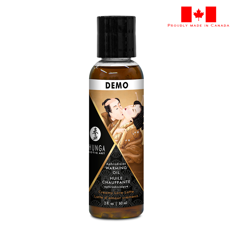 SH12214 Shunga Warming Massage Oil 60 ml Love Latte DEMO 1 PER STORE ONLY NO FURTHER DISCOUNTS APPLY