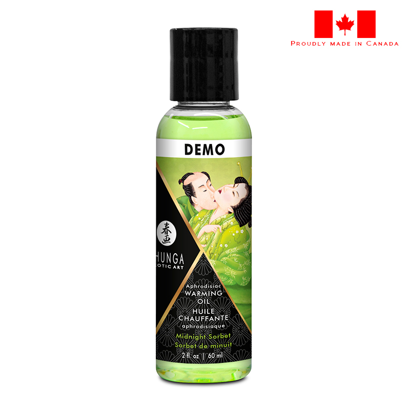 SH12216 Shunga Warming Massage Oil 60 ml Sorbet DEMO 1 PER STORE ONLY NO FURTHER DISCOUNTS APPLY