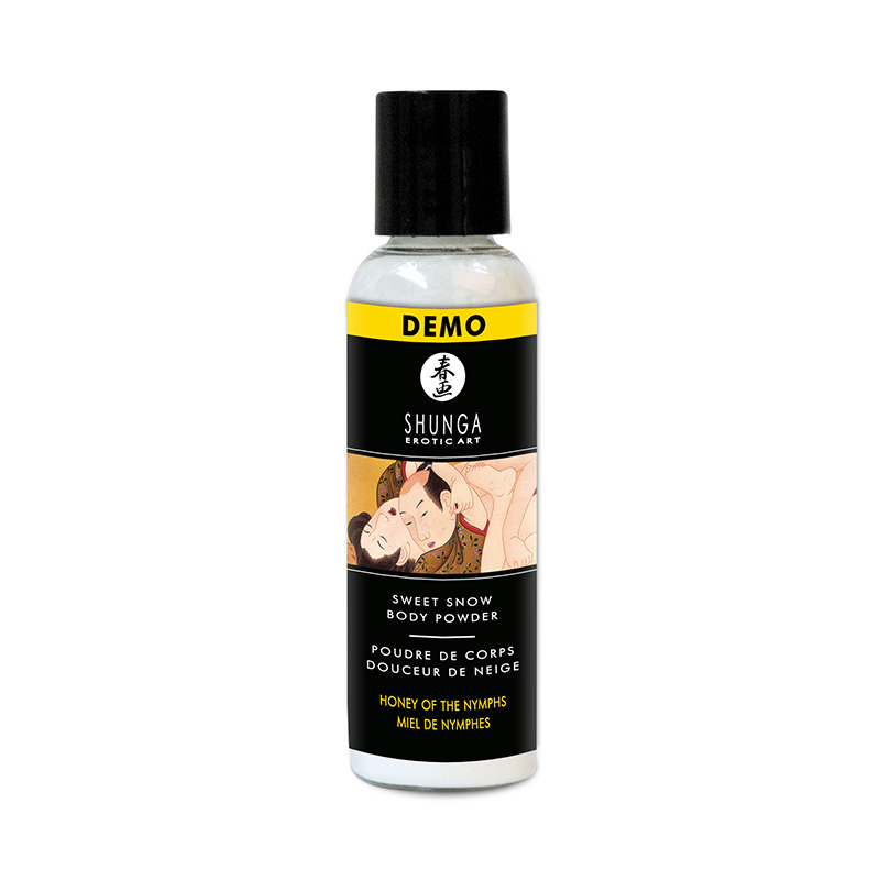 SH13003 Shunga Sweet Snow Edible Body Powder 60 ml Honey of the Nymphs DEMO 1 PER STORE ONLY NO FURTHER DISCOUNTS APPLY