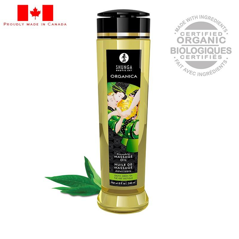 SH1311 Shunga 8 oz. Organica Massage Oil Green Tea