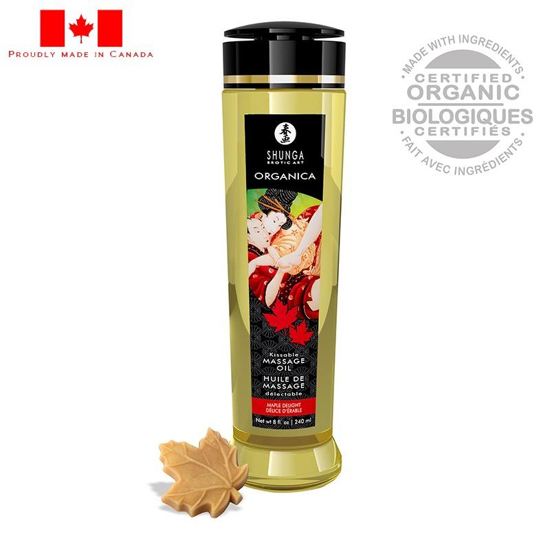 SH1320 Shunga 8 oz. Organica Massage Oil Maple Delight