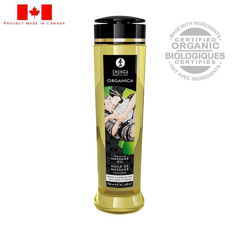 SH1322 Shunga 8 oz. Organica Massage Oil Natural