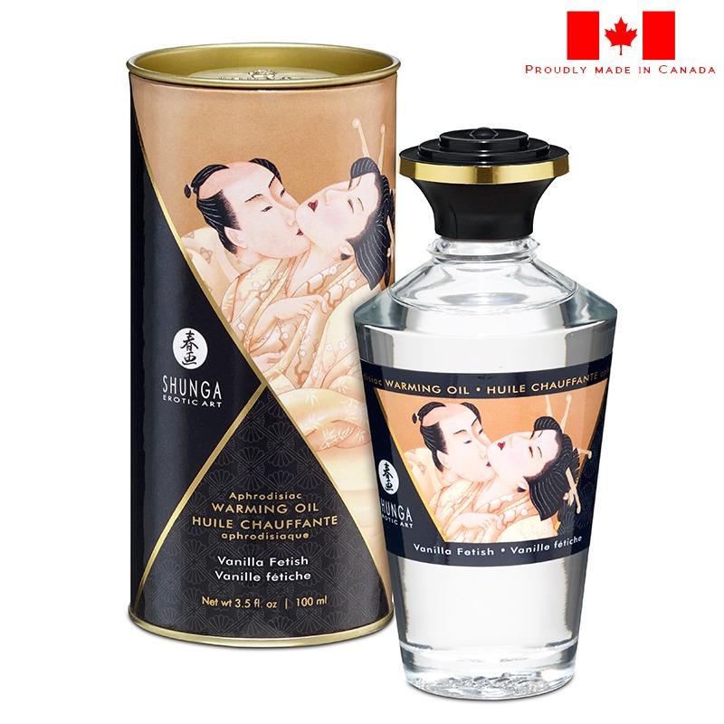 SH2207 Shunga Warming Massage Oil 100 ml Vanilla